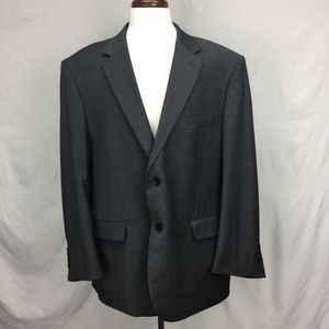 Awearness Kenneth Cole Gray Herringbone Wool Coat